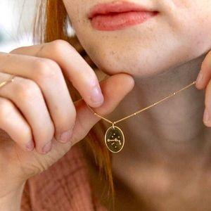 Aries Minimal Indie Pendant Zodiac Charm Necklace